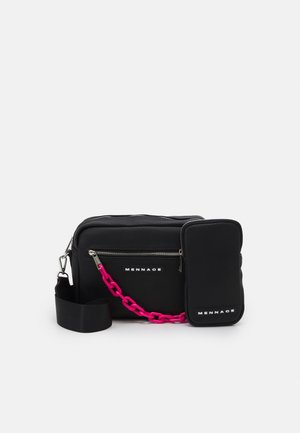 CHAIN DOUBLE BAG SET UNISEX - Sac bandoulière - black