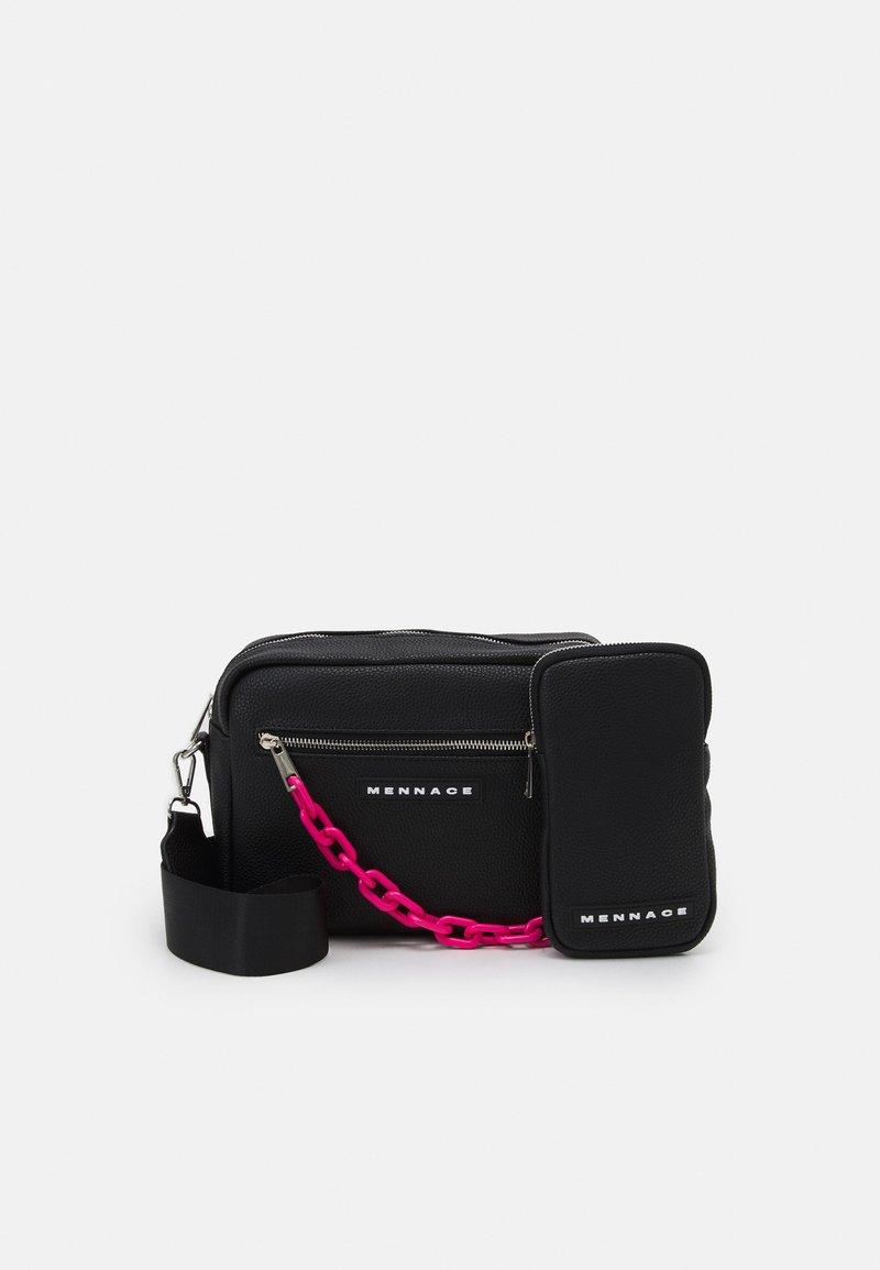Mennace - CHAIN DOUBLE BAG SET UNISEX - Taška spříčným popruhem - black