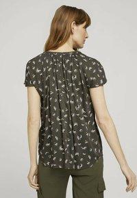 TOM TAILOR - Blouse - khaki small floral design - 2