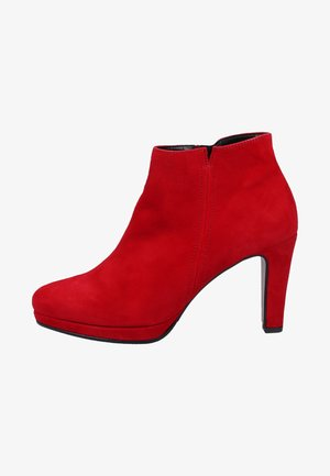 High heeled ankle boots - rubin