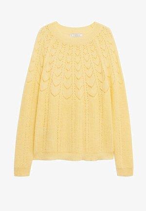 PATRI - Pullover - pastellgelb