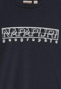 Napapijri - SOLI BRIGHT - Print T-shirt - blu marine - 3
