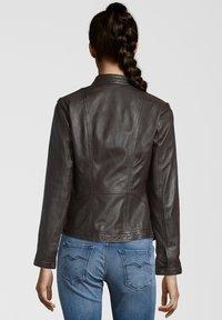 7eleven - URSULA - Leather jacket - chocolate - 1