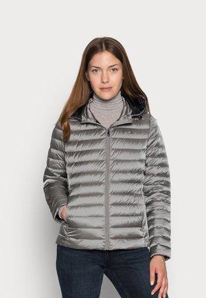 SEMI SHINE JACKET - Down jacket - silver