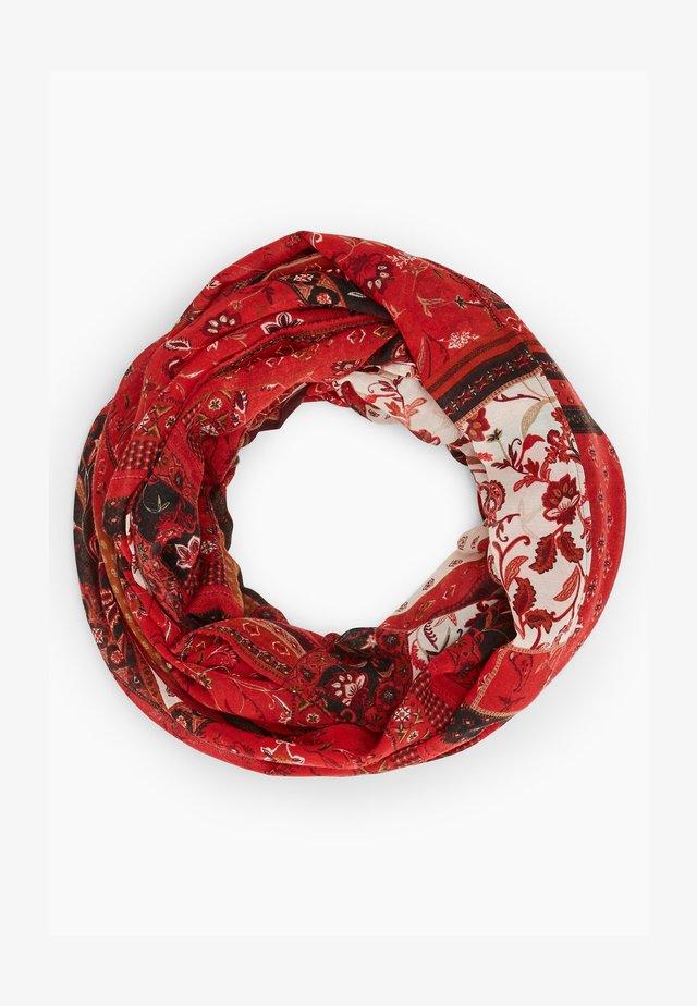 Scarf - dark red aop