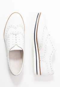 Anna Field - LEATHER LACE-UPS - Casual lace-ups - white - 3