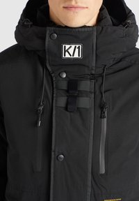 khujo - NANDU - Winter jacket - schwarz-schwarz kombo - 7