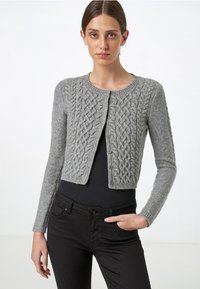 HALLHUBER - MIT ZOPFMUSTER - Cardigan - gray - 0