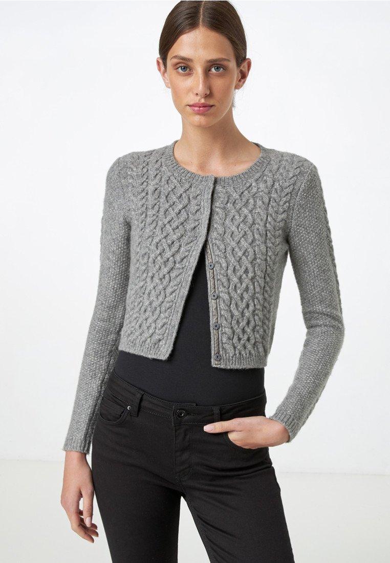 HALLHUBER - MIT ZOPFMUSTER - Cardigan - gray