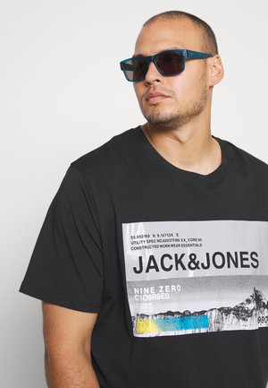 JCORACK TEE CREW NECK  - Triko spotiskem - black