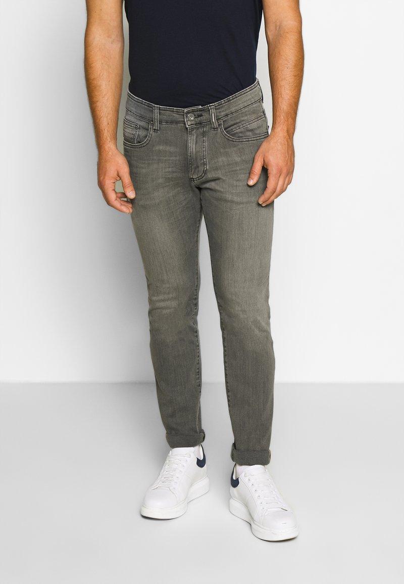 camel active - FLEX - Straight leg jeans - grau
