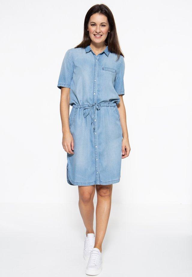 MIT SANDWASH-EFFEK - Spijkerjurk - blau