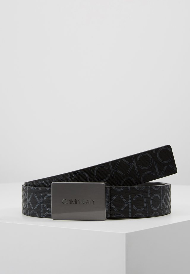 PLAQUE MONOGRAM BELT - Pásek - black