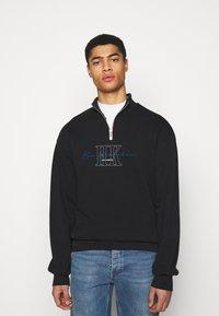 Han Kjøbenhavn - HALF ZIP - Sweatshirt - faded black - 0