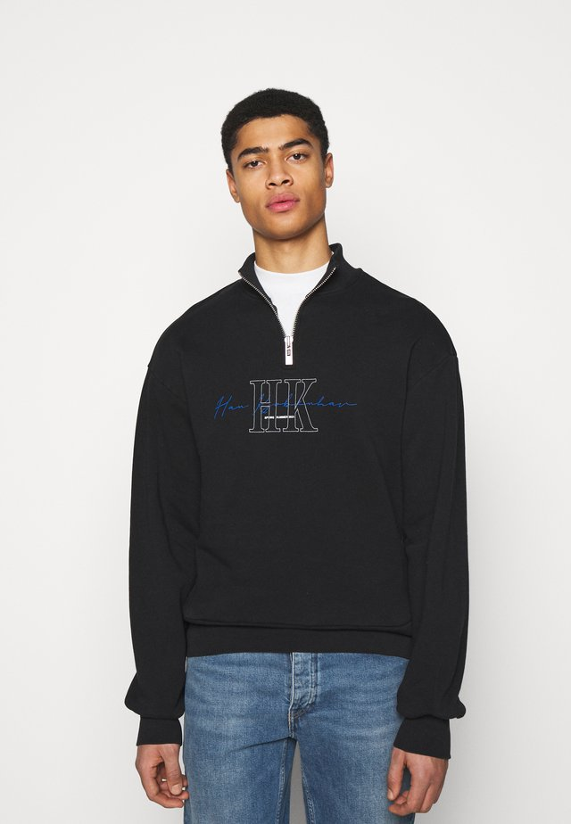 HALF ZIP - Sweatshirt - faded black