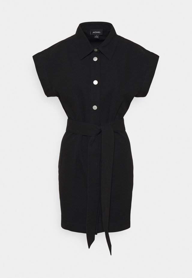 LINN DRESS - Skjortklänning - black dark
