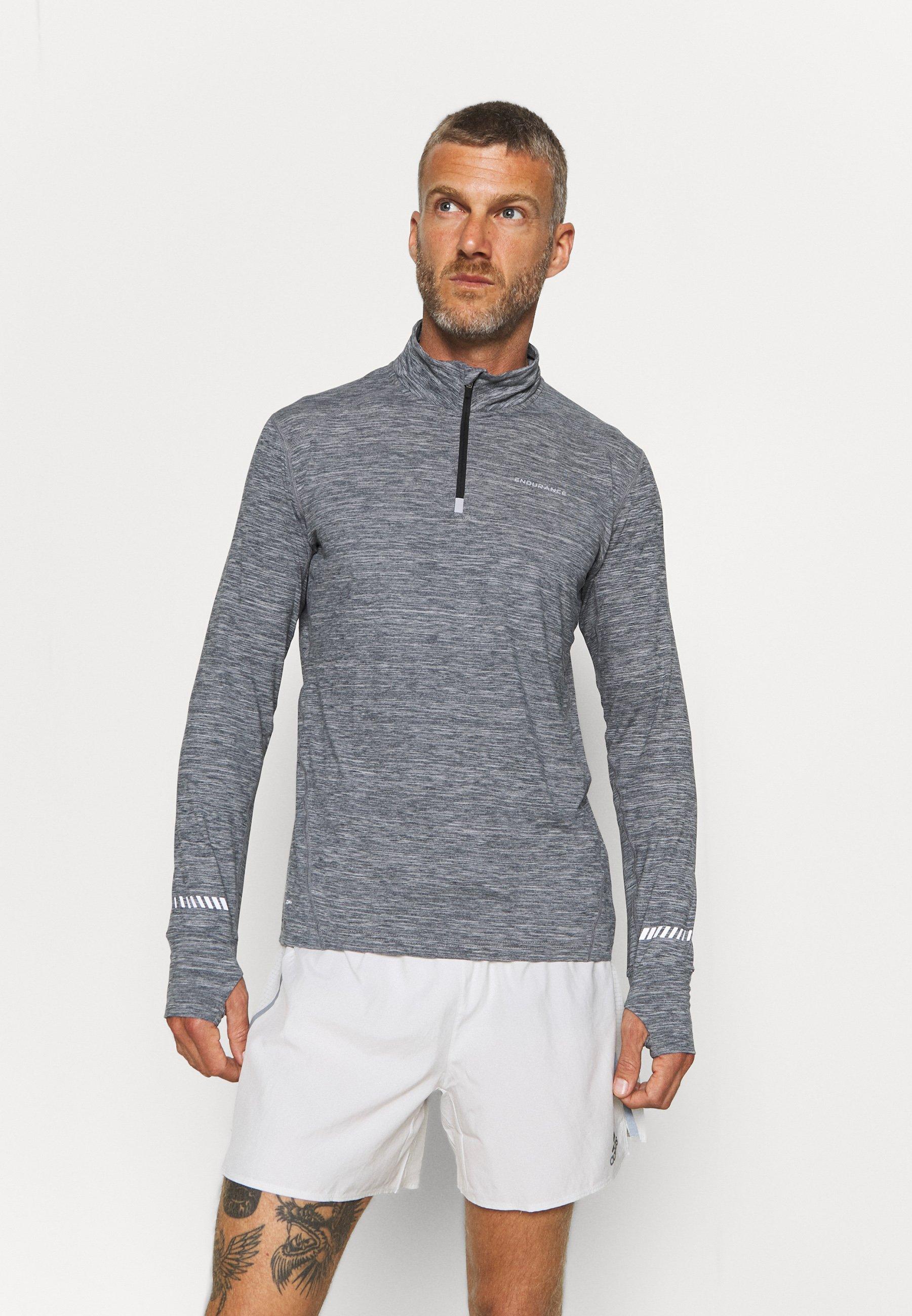 Men TUNE MELANGE MIDLAYER - Sports shirt