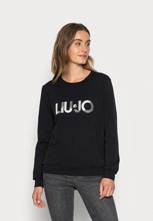 FELPA CHIUSA  - Sweater - nero lucido