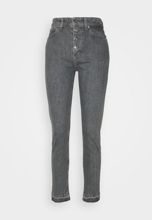 HIGH RISE SHANK DETAIL - Slim fit jeans - maceio mid grey