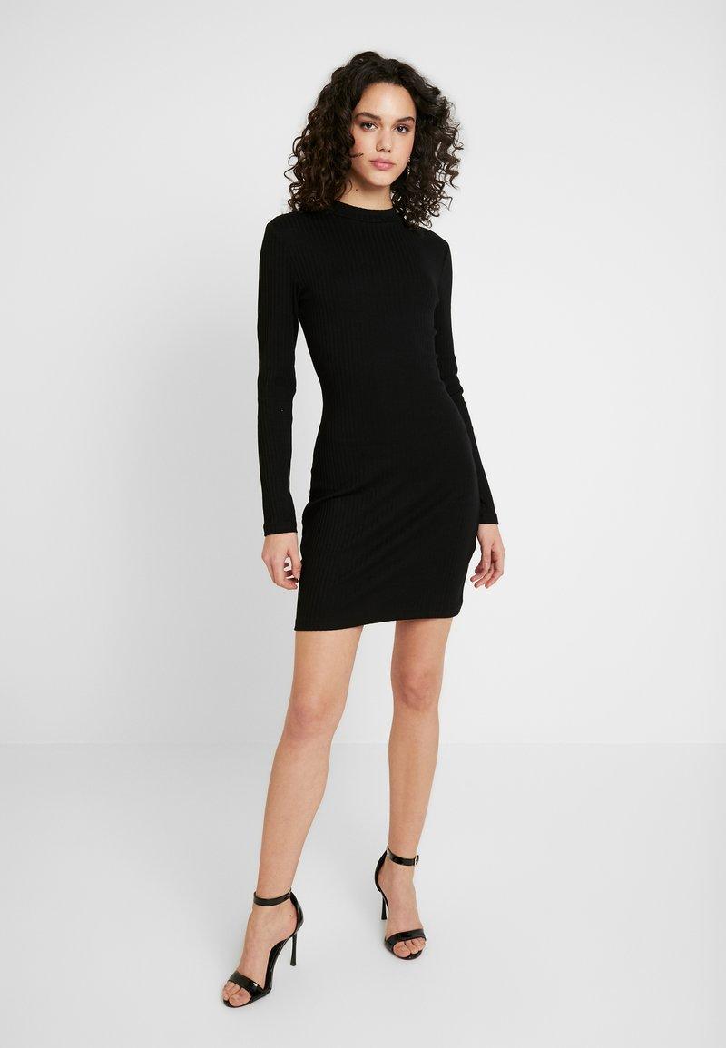 Even&Odd - BASIC - Vestito di maglina - black