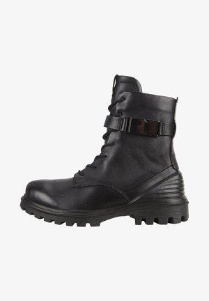 TREDTRAY W MID-CUT - Lace-up boots - black