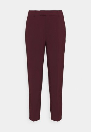 Slim fit business trousers - Bukser - dark red