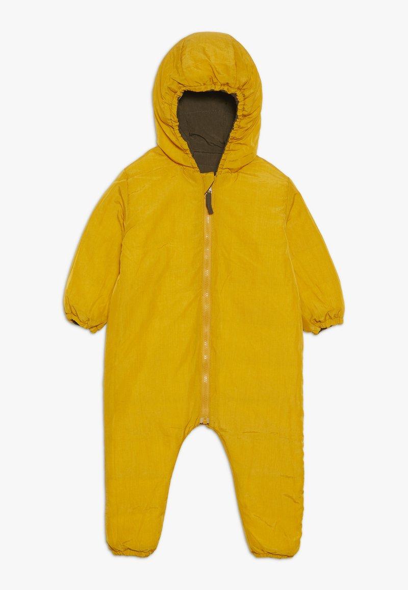 Smitten Organic - SNOW SUIT BABY  - Snowsuit - yellow/khaki