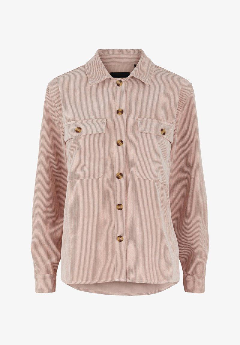 Pieces - Button-down blouse - misty rose