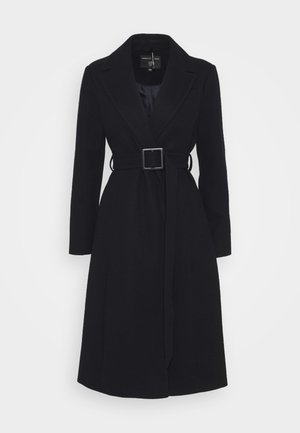 BELTED WRAP COAT - Klassisk kåpe / frakk - navy