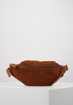 LEATHER  - Bum bag - cognac