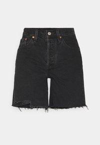 501® MID THIGH SHORT - Denim shorts - lunar black