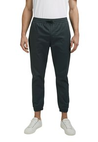 Esprit Collection - FASHION - Tracksuit bottoms - dark teal green - 3