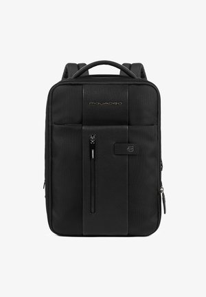 PIQUADRO BRIEF RUCKSACK LEDER 38 CM LAPTOPFACH - Zaino - black