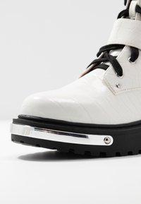 Missguided - DETAIL HIKING BOOT - Platåstøvletter - white - 2