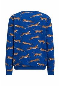 WE Fashion - MET LUIPAARDPRINT - Sweatshirt - cobalt blue - 1