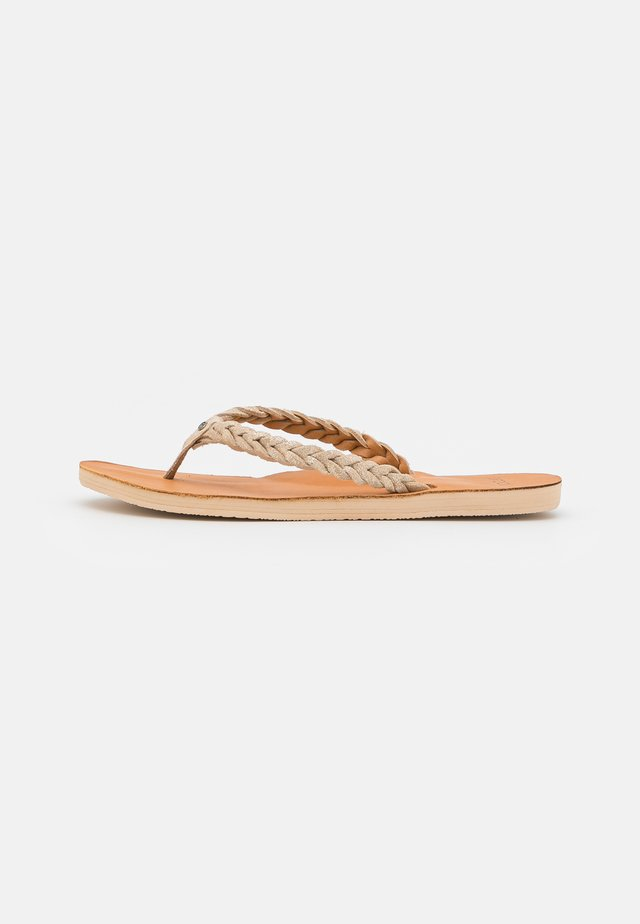 RIVIERA MAYA - T-bar sandals - gold