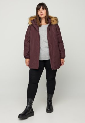 Down jacket - dark bordeaux