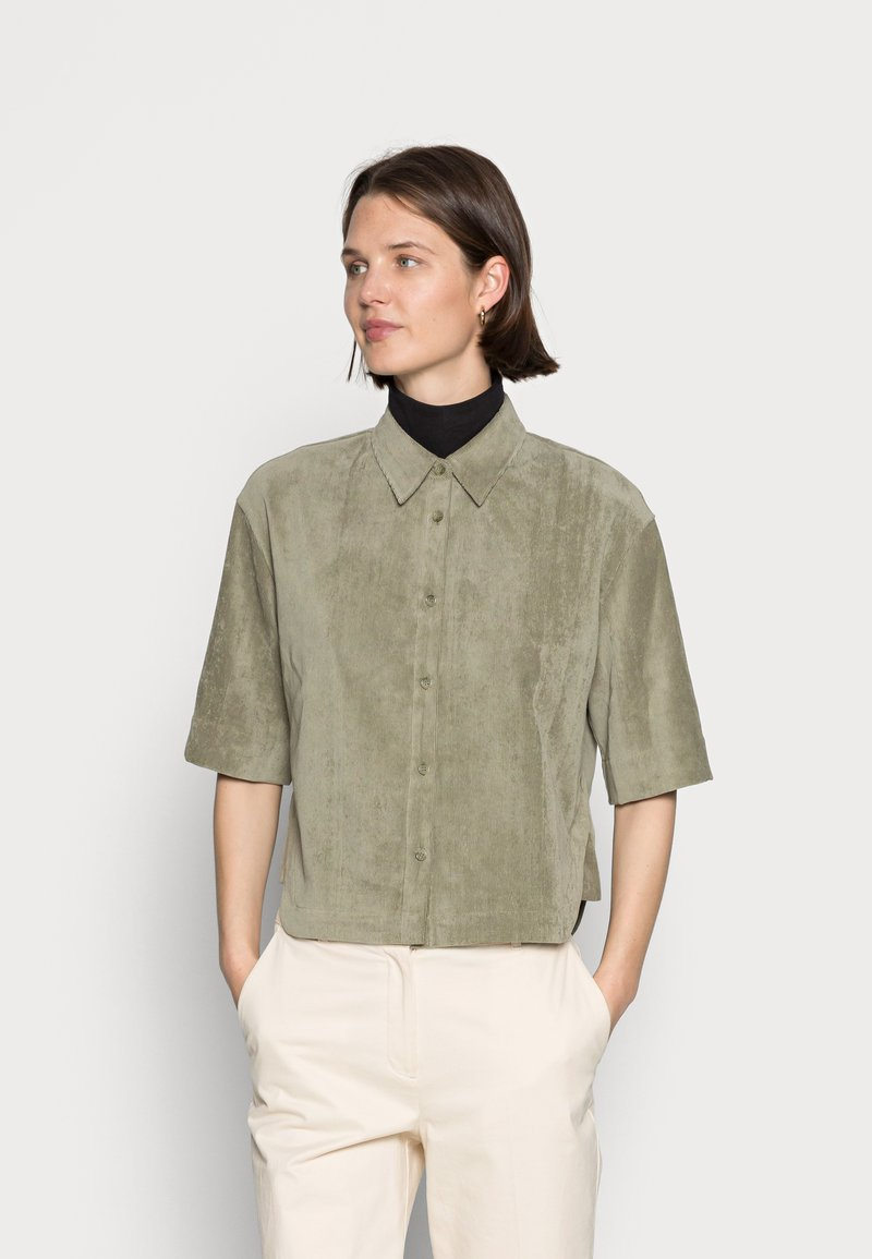 Opus - FORDA  - Button-down blouse - soft moss