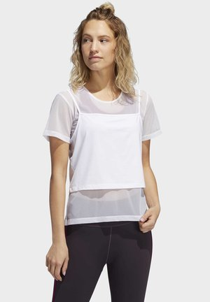 POWER TWO-IN-ONE - Print T-shirt - white