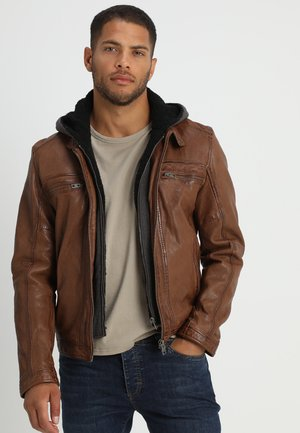 DRINK - Leather jacket - tan