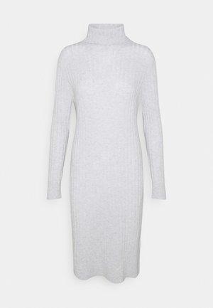 TURTLENECK DRESS - Jumper dress - light grey