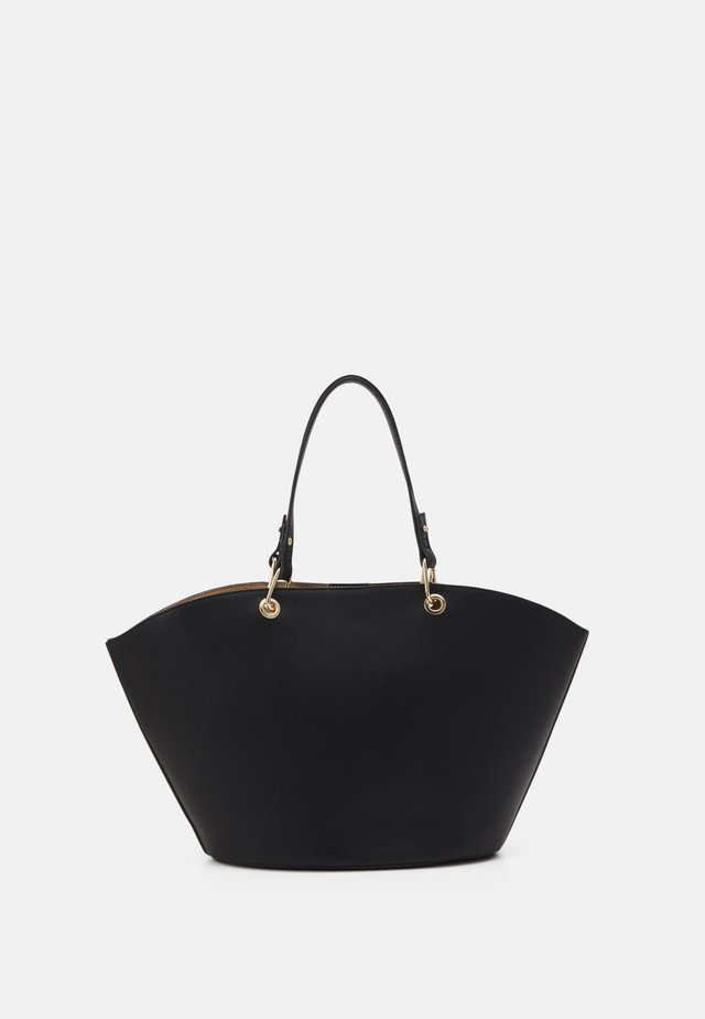 CASSIE CURVED TOP TOTE BAG SET - Kabelka - black