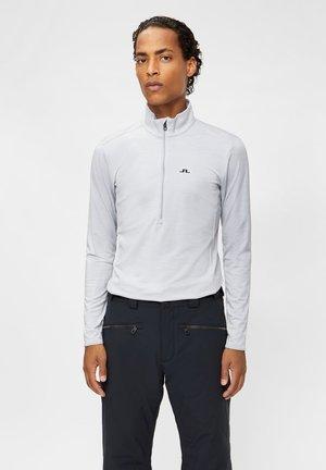 LUKE ZIP MID LAYER - Long sleeved top - stone grey melange