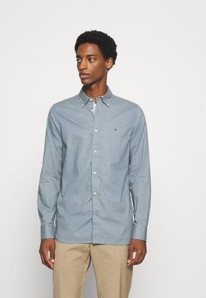 SLIM MICRO PRINT - Shirt - blue