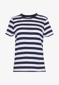 Polo Ralph Lauren - TEE SHORT SLEEVE - Print T-shirt - dark blue/white - 3