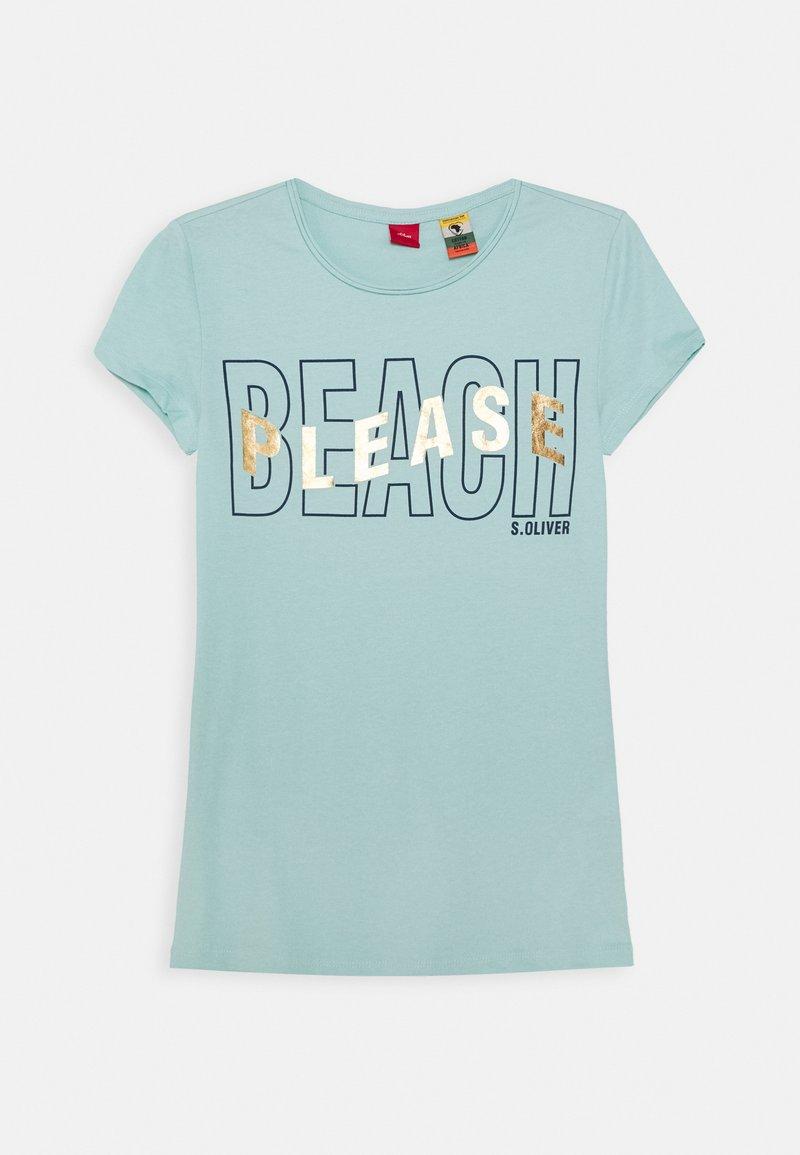 s.Oliver - T-shirt print - light blue