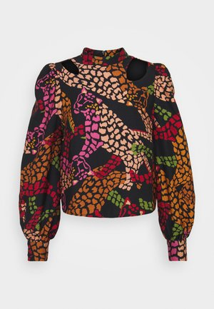 LEOPARD CUTOUT BLOUSE - Blouse - multi-coloured