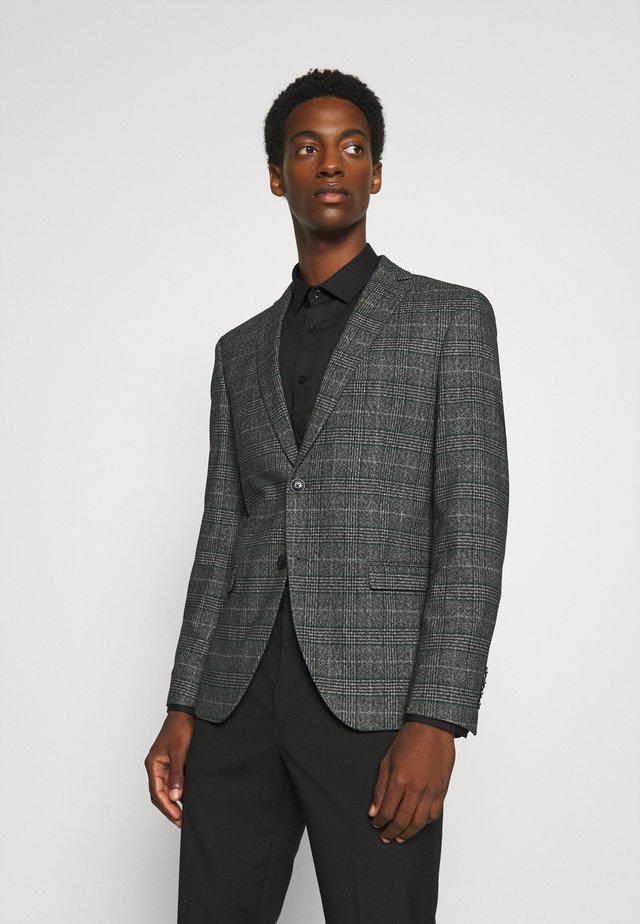 SLHSLIM-RONY - Blazer jacket - dark grey melange/green/white