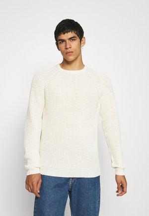 TONY - Stickad tröja - antique white