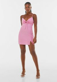 Bershka - Pouzdrové šaty - pink - 1